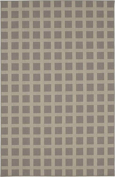 Karastan Design Concepts Woolston Plaid Worldly Grey