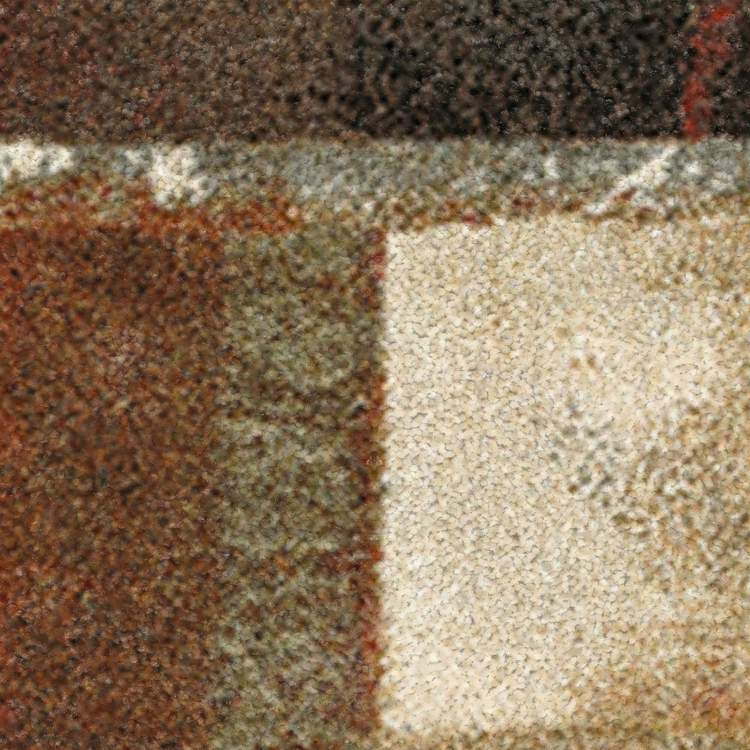 Marina Barista Brown  Orange Area Rug