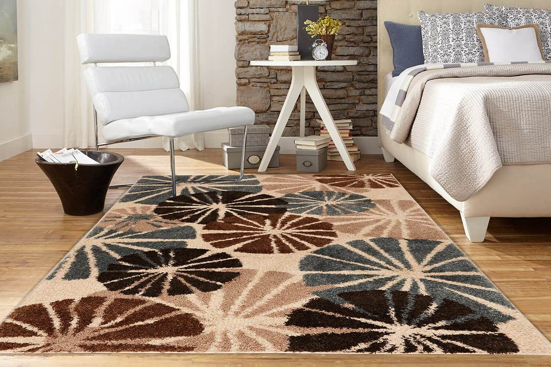Hudson Mackensie Cream  Blue Area Rug