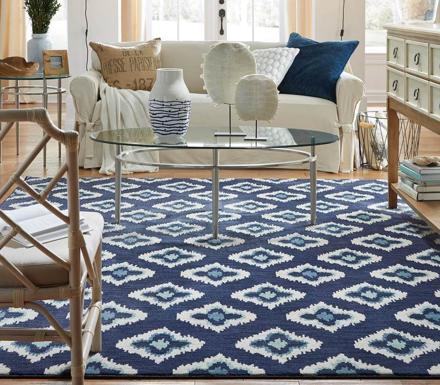 Savvy Hutchinson Blue  Brown Area Rug