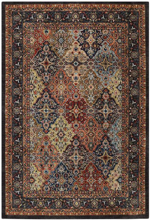 Lana Bimini Blue  Orange Area Rug