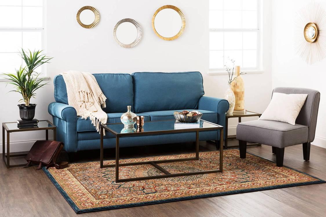 Lana Cappadocia Blue  Gold Area Rug