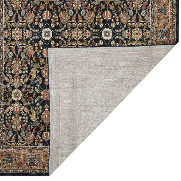 Lana Heli Blue  Orange Area Rug