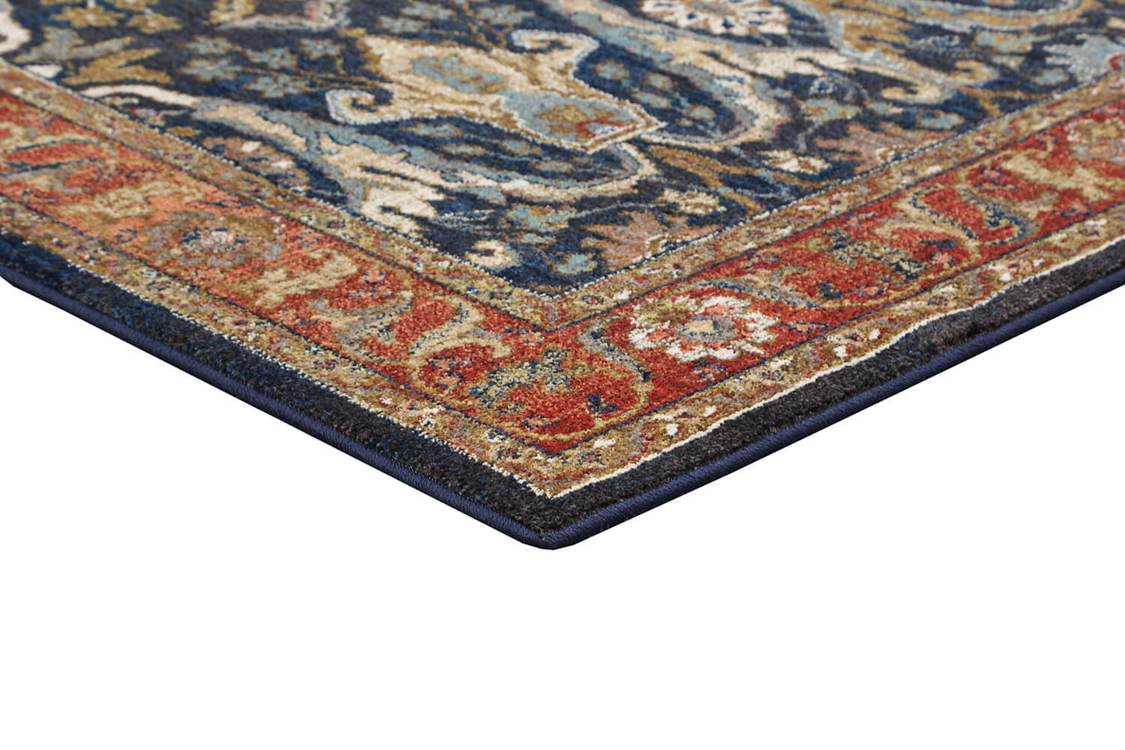 Lana Petra Blue  Orange Area Rug