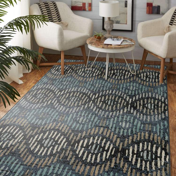 Dominica Arcturus Blue Area Rug