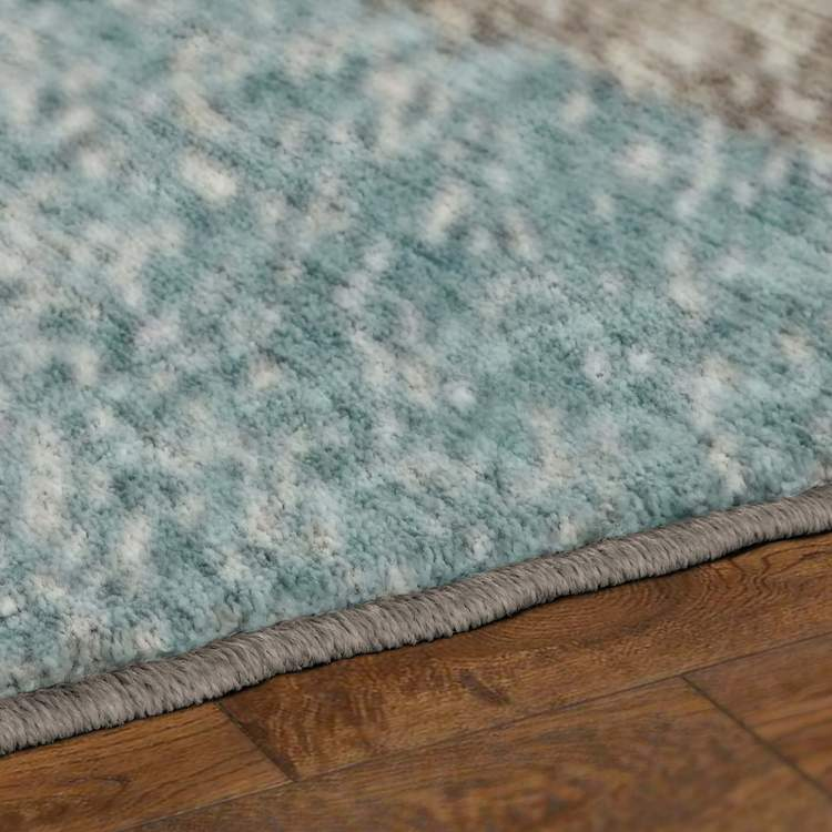 Dominica Antares Gray  Blue Area Rug