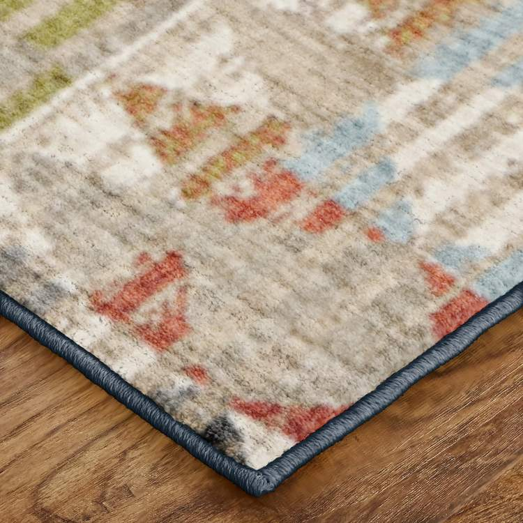 Dominica Ophiuchi Gray  Red Area Rug