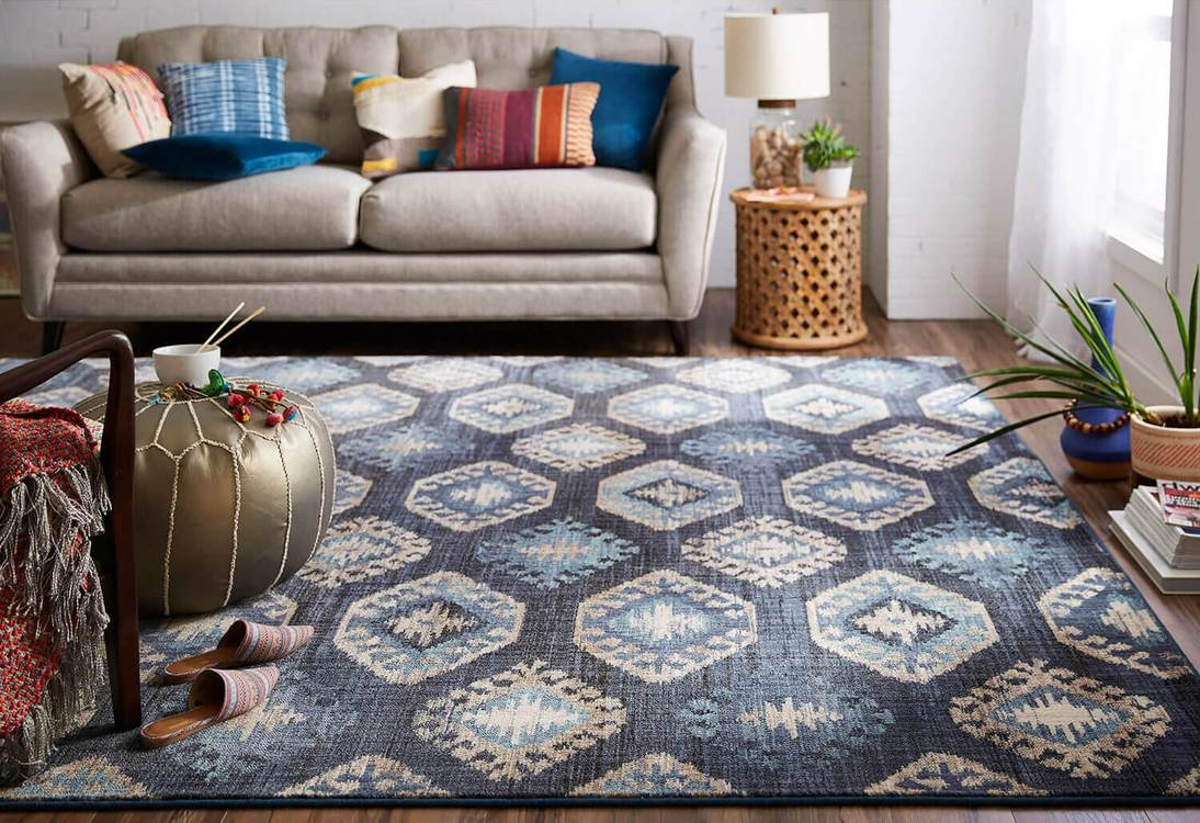 Dominica Barnard Blue Area Rug