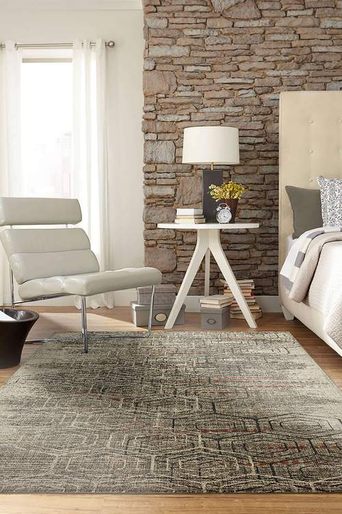 Dominica Gamma Gray Area Rug