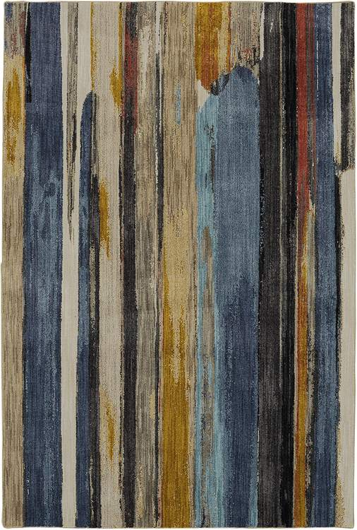 Seychelles Bucerias Blue  Yellow Area Rug