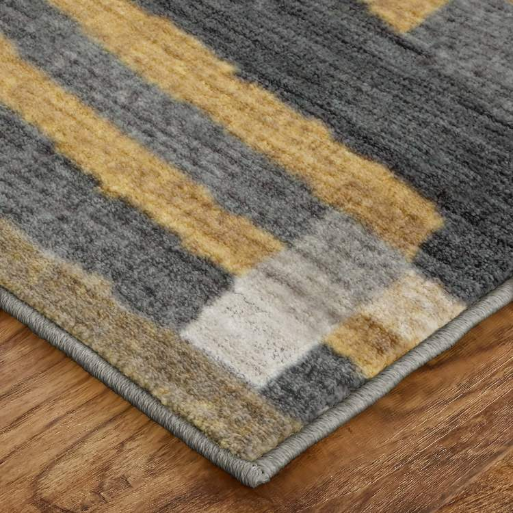 Seychelles Vallarta Gray  Yellow Area Rug