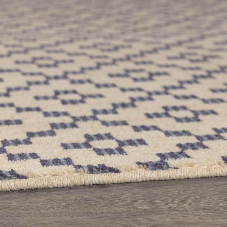 Syndey Lattice Blue  Brown Area Rug