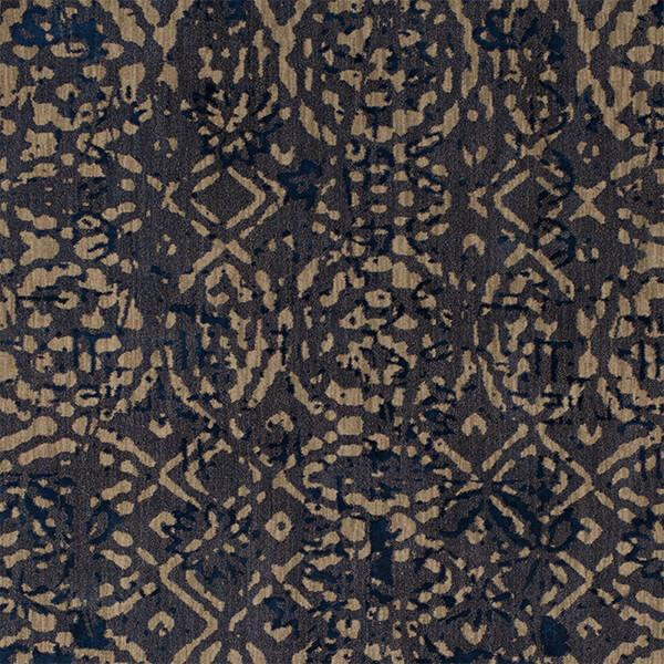 Karastan Cosmopolitan Block Print Ink Blue By Patina Vie