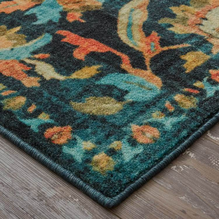 Technicolor Alluvia Blue  Orange Area Rug