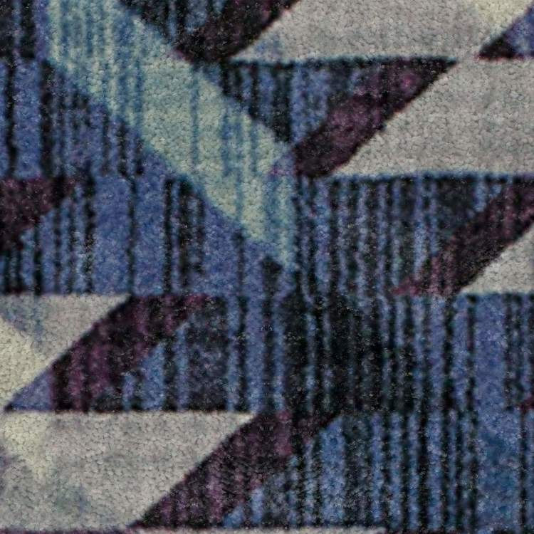 Technicolor View Blue Area Rug