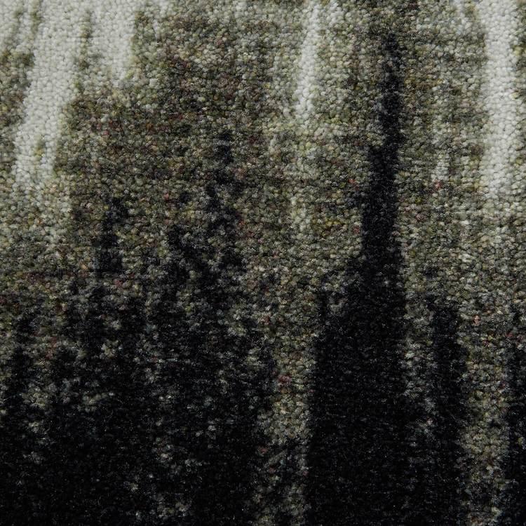 Technicolor Tie Dye Gray Area Rug