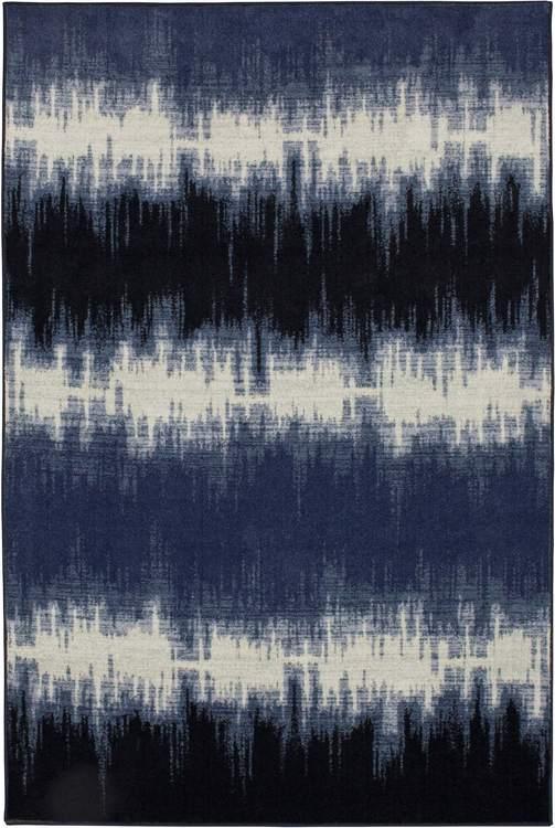 Technicolor Tie Dye Blue Area Rug