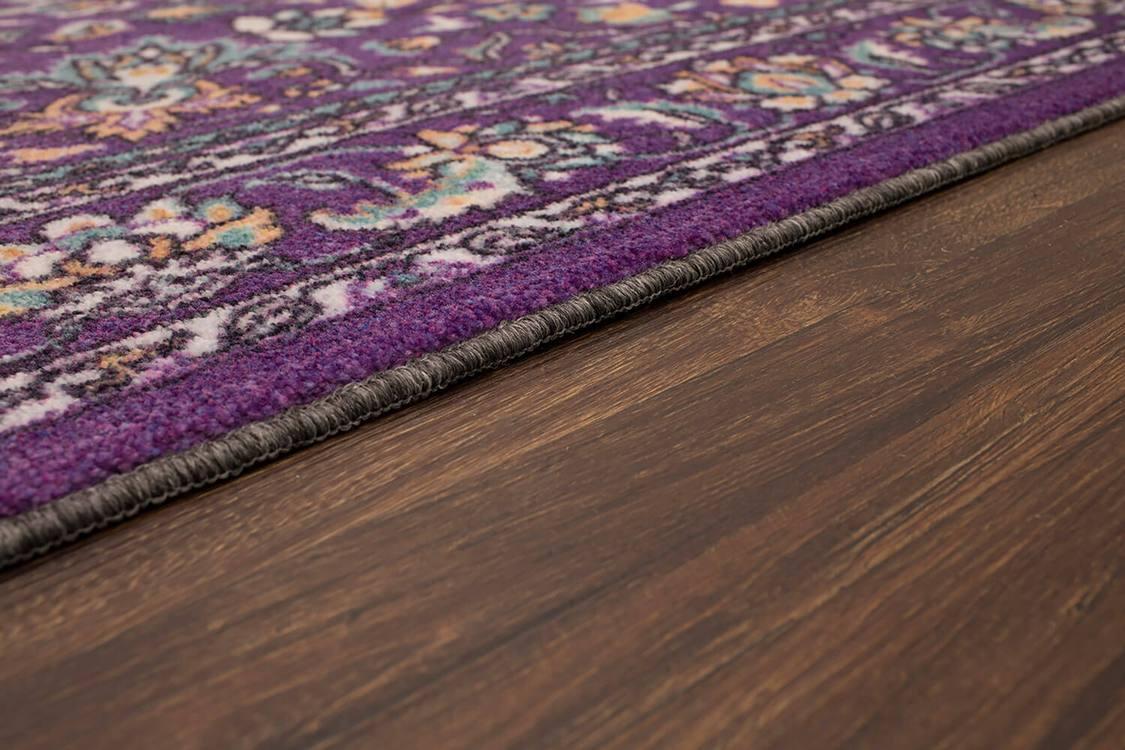 Technicolor Clarita Purple Area Rug