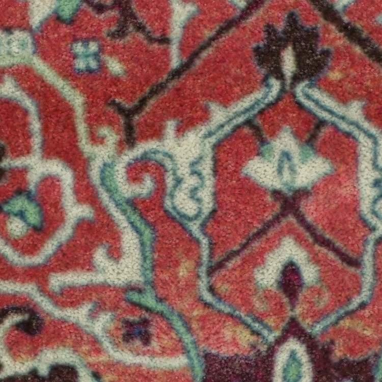 Technicolor Emilie Blue  Pink Area Rug