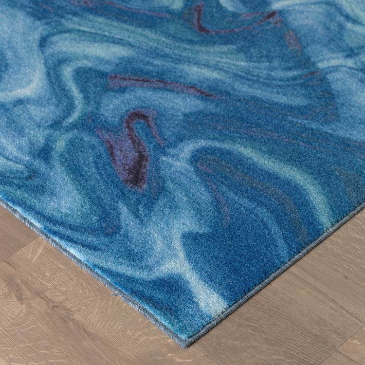 Technicolor Color Crush Blue Area Rug