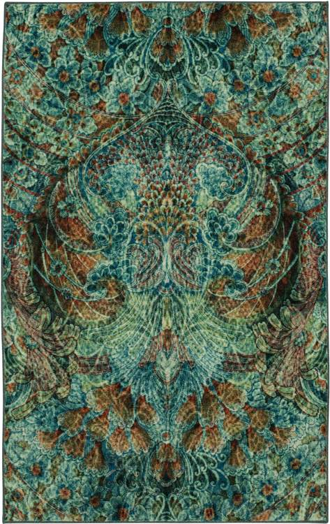 Technicolor Reverie Blue  Brown Area Rug