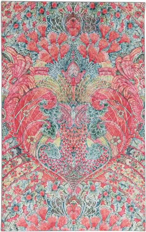 Technicolor Reverie Pink  Blue Area Rug