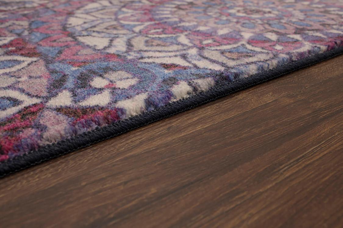 Technicolor Farida Purple Area Rug