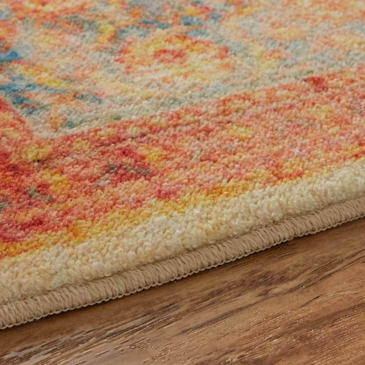 Technicolor Soraya Orange Area Rug