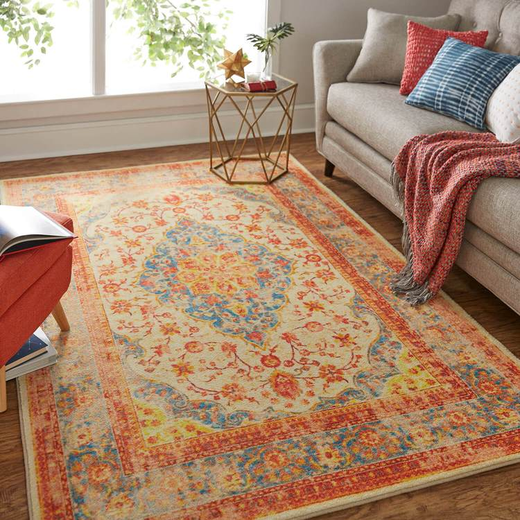 Technicolor Soraya Orange Area Rug