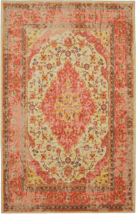 Technicolor Soraya Red  Gold Area Rug