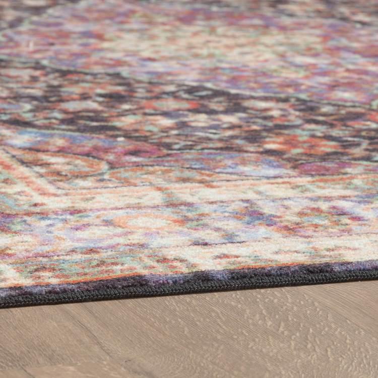 Technicolor Zara White  Purple Area Rug