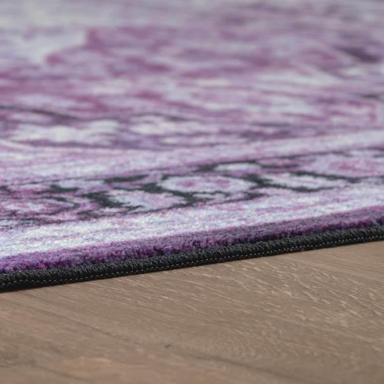 Technicolor Safaa Purple Area Rug