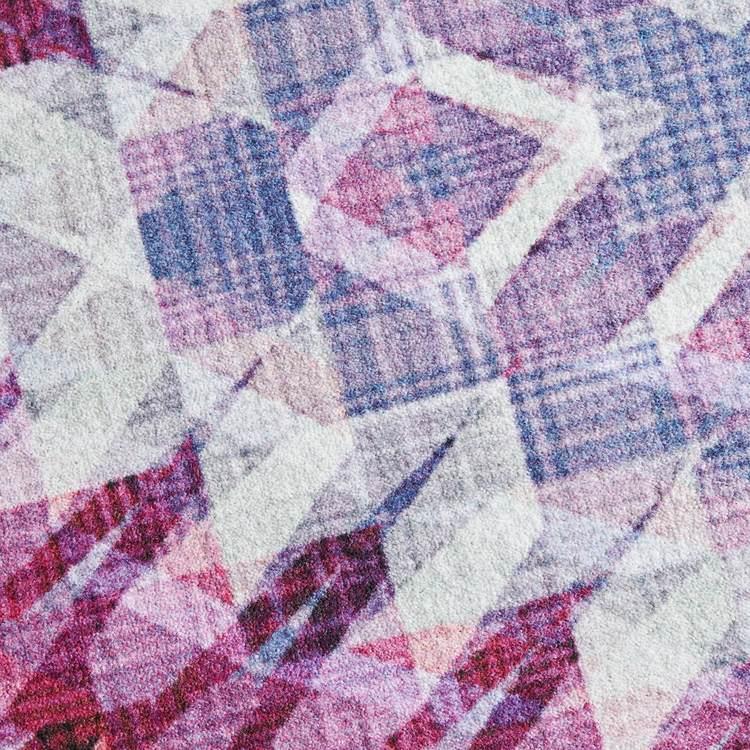 Technicolor Geo Prism Purple Area Rug