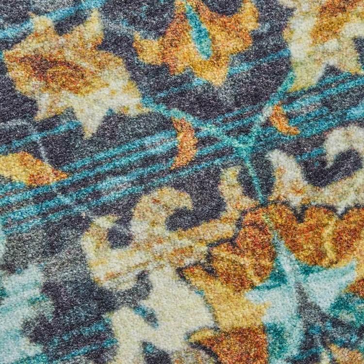 Technicolor Conley Blue  Brown Area Rug