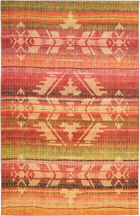 Technicolor Tapestry Orange Area Rug