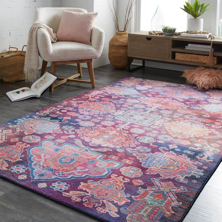 Technicolor Hampton Purple Area Rug