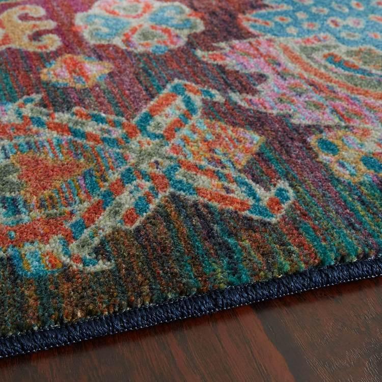 Technicolor Hampton Blue  Purple Area Rug