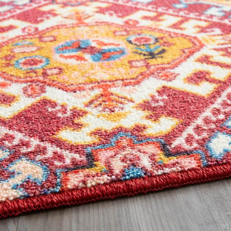 Technicolor Islands Pink  Gold Area Rug