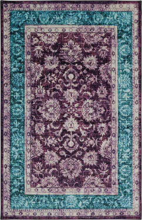 Technicolor Adelanto Purple  Blue Area Rug