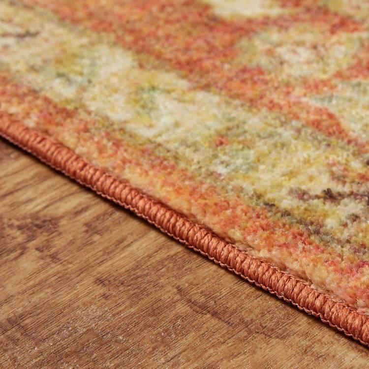 Technicolor Lantana Orange Area Rug