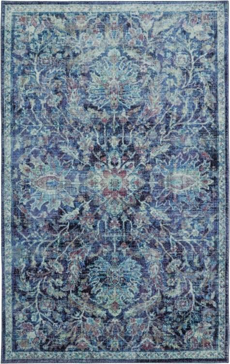 Technicolor Emilia Blue Area Rug