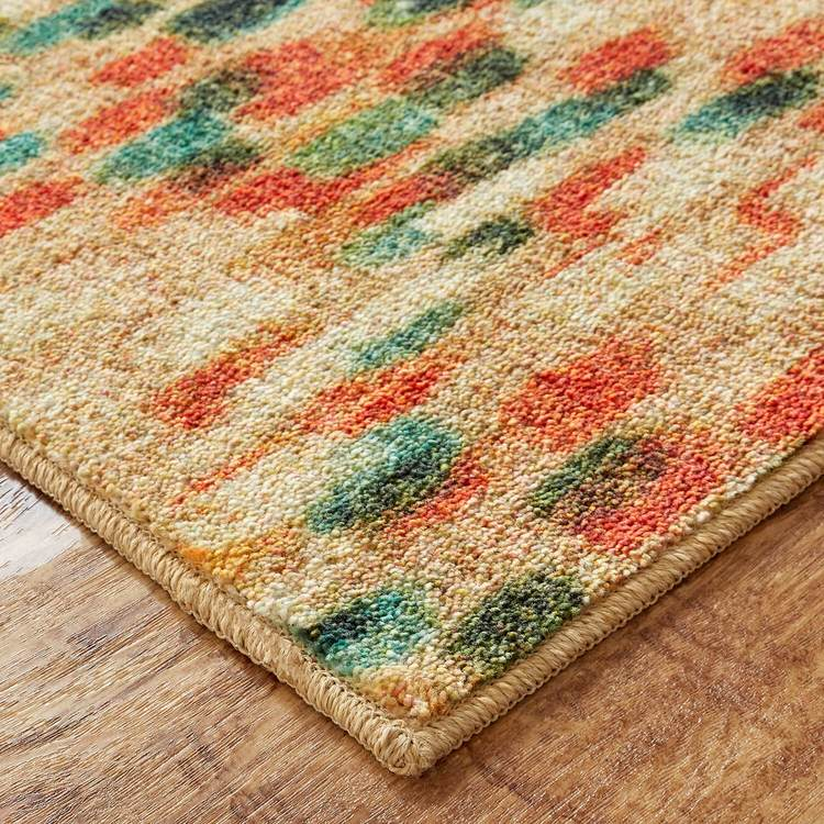 Technicolor Carlsbad Brown  Red Area Rug