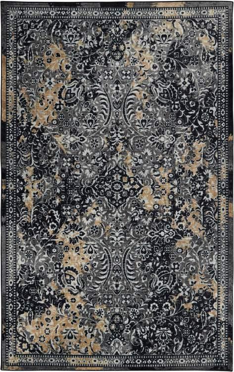 Technicolor Persian Charcoal Gray Area Rug