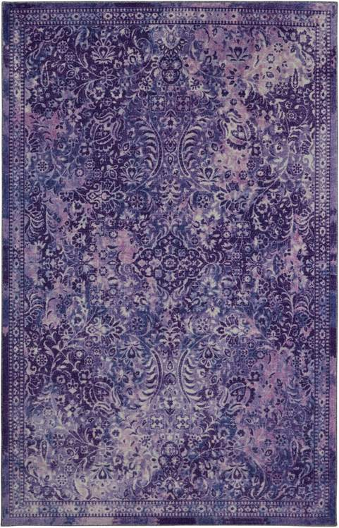 Technicolor Persian Purple Area Rug