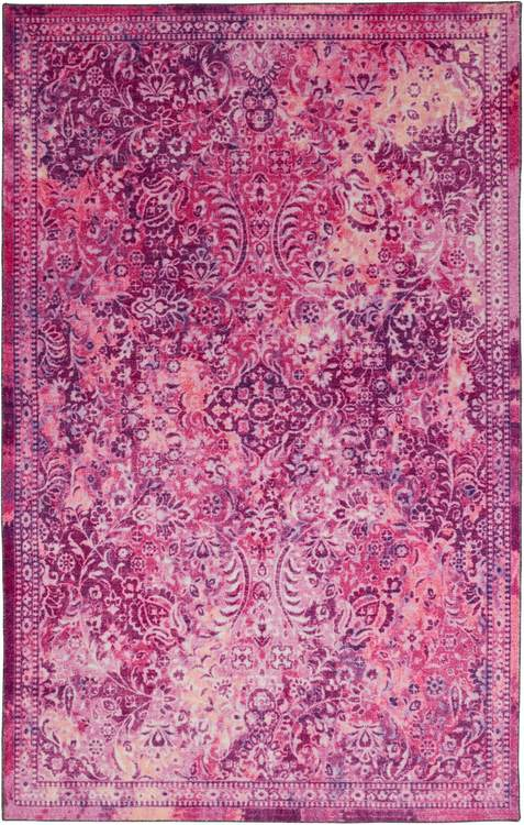 Technicolor Persian Pink  Purple Area Rug