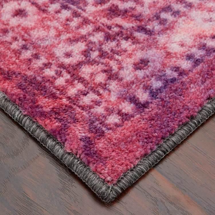 Technicolor Persian Pink  Purple Area Rug