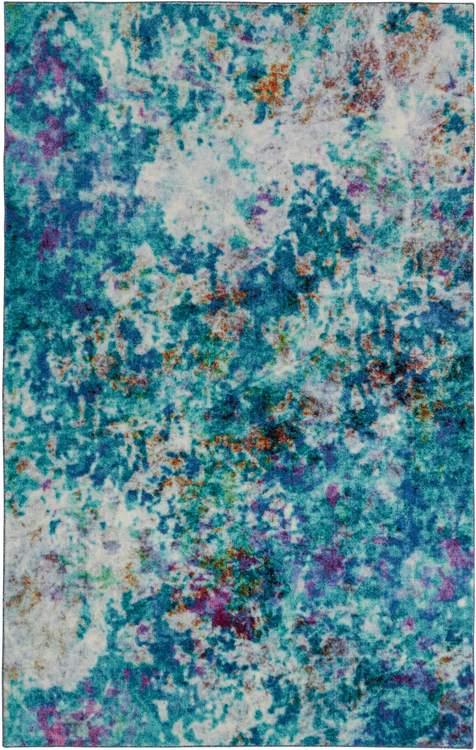 Technicolor Expression Blue Area Rug