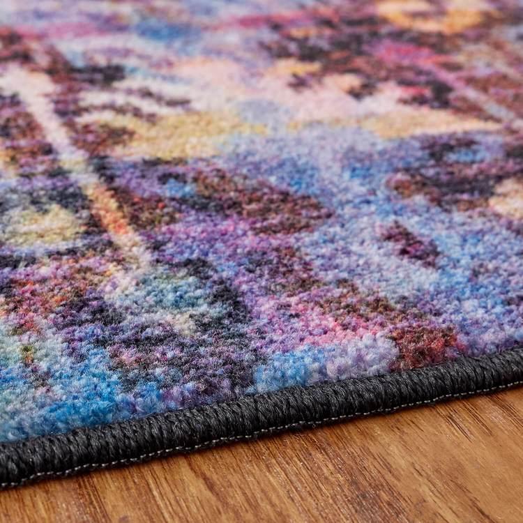 Technicolor Amani Purple  Orange Area Rug