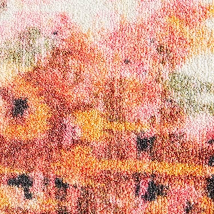 Technicolor Amiri Orange  Pink Area Rug