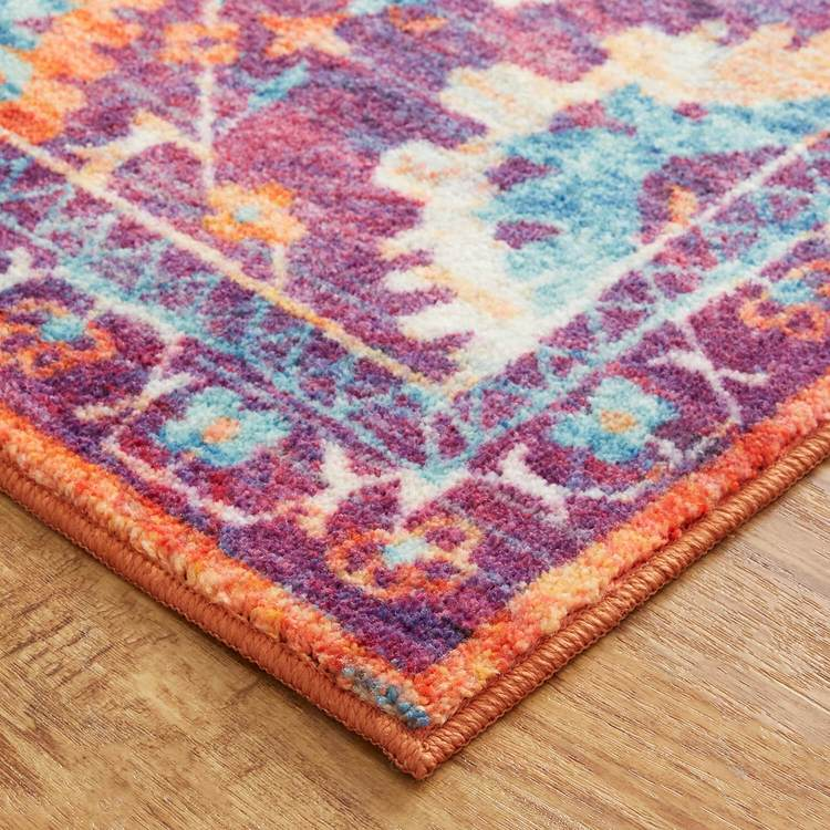 Technicolor Pomona Purple  Orange Area Rug